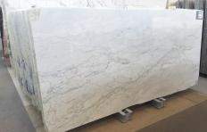 Supply polished slabs 0.8 cm in natural marble CALACATTA MICHELANGELO A0261. Detail image pictures