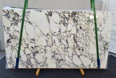 Supply polished slabs 0.8 cm in natural marble CALACATTA MONET 1302. Detail image pictures