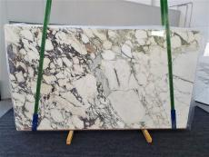 Supply polished slabs 0.8 cm in natural marble CALACATTA MONET 1312. Detail image pictures