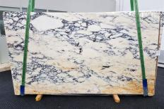 Supply polished slabs 0.8 cm in natural marble CALACATTA MONET 1371. Detail image pictures
