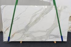 Supply polished slabs 0.8 cm in natural marble CALACATTA ORO EXTRA 1366. Detail image pictures