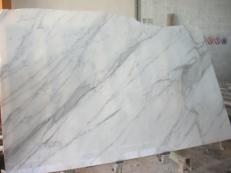 Supply polished slabs 0.8 cm in natural marble CALACATTA ORO EXTRA EM_0412. Detail image pictures