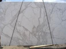 Supply polished slabs 1.2 cm in natural marble CALACATTA ORO EXTRA E-8001. Detail image pictures