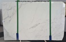 Supply polished slabs 0.8 cm in natural marble CALACATTA ORO EXTRA GL 984. Detail image pictures