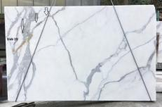Supply polished slabs 0.8 cm in natural marble CALACATTA ORO EXTRA GL D190223. Detail image pictures