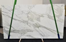 Supply polished slabs 0.8 cm in natural marble CALACATTA ORO EXTRA GL 1090. Detail image pictures
