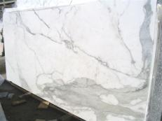 Supply polished slabs 0.8 cm in natural marble CALACATTA ORO EDM25108. Detail image pictures