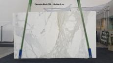 Supply polished slabs 0.8 cm in natural marble CALACATTA ORO GL 761. Detail image pictures