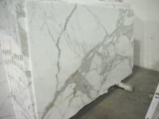 Supply polished slabs 0.8 cm in natural marble CALACATTA ORO EDM24267. Detail image pictures