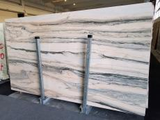 Supply polished slabs 2 cm in natural marble CALACATTA SAINT TROPEZ A0128. Detail image pictures