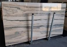 Supply polished slabs 0.8 cm in natural marble CALACATTA SAINT TROPEZ A0128. Detail image pictures