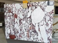 Supply polished slabs 0.8 cm in natural marble CALACATTA VAGLI ROSATO AA R125. Detail image pictures