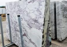 Supply sawn slabs 0.8 cm in natural marble CALACATTA VAGLI ROSATO Z0386. Detail image pictures