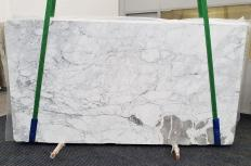 Supply polished slabs 0.8 cm in natural marble CALACATTA VAGLI VENA FINA #1374. Detail image pictures