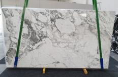 Supply polished slabs 0.8 cm in natural marble CALACATTA VAGLI 1300. Detail image pictures