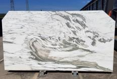 Supply polished slabs 0.8 cm in natural marble CALACATTA VAGLI U0434. Detail image pictures
