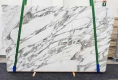 Supply polished slabs 0.8 cm in natural marble CALACATTA VAGLI 1396. Detail image pictures