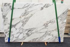 Supply polished slabs 1.2 cm in natural marble CALACATTA VAGLI 1396. Detail image pictures