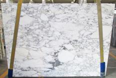 Supply honed slabs 0.8 cm in natural marble CALACATTA VAGLI 1230M. Detail image pictures