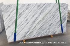 Supply polished slabs 2 cm in natural marble Calacatta Vandelli 1153. Detail image pictures