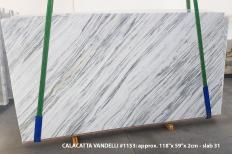 Supply polished slabs 0.8 cm in natural marble Calacatta Vandelli 1153. Detail image pictures
