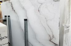 Supply polished slabs 2 cm in natural marble CALACATTA VENDOME 1402M. Detail image pictures