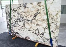 Supply polished slabs 0.8 cm in natural marble CALACATTA VIOLA 12911. Detail image pictures