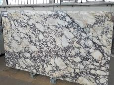 Supply polished slabs 0.8 cm in natural marble CALACATTA VIOLA T0400. Detail image pictures