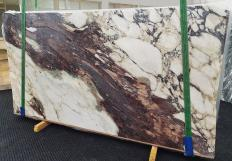 Supply polished slabs 0.8 cm in natural marble CALACATTA VIOLA 1440. Detail image pictures