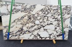 Supply polished slabs 0.8 cm in natural marble CALACATTA VIOLA 1431. Detail image pictures