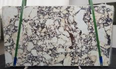 Supply polished slabs 0.8 cm in natural marble CALACATTA VIOLA #1106. Detail image pictures