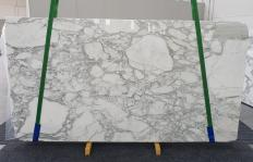 Supply polished slabs 0.8 cm in natural marble CALACATTA 1230. Detail image pictures