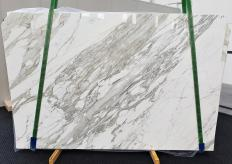 Supply polished slabs 3 cm in natural marble CALACATTA 1344. Detail image pictures