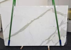 Supply polished slabs 1.2 cm in natural marble CALACATTA GL 1108. Detail image pictures