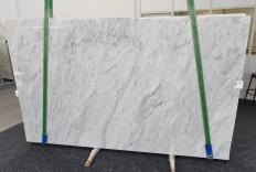 Supply polished slabs 0.8 cm in natural marble CARRARA 1240. Detail image pictures