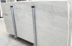 Supply polished slabs 0.8 cm in natural marble CARRARA 1548M. Detail image pictures