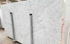 Supply polished slabs 2 cm in natural marble CARRARA 1693M. Detail image pictures