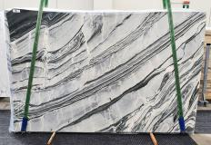 Supply polished slabs 0.8 cm in natural marble CIPOLLINO NERO 1379. Detail image pictures