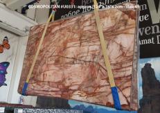 Supply polished slabs 0.8 cm in natural quartzite COSMOPOLITAN U0331. Detail image pictures
