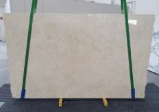 Supply polished slabs 0.8 cm in natural marble CREMA MARFIL 1268. Detail image pictures