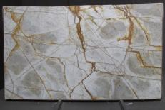 Supply polished slabs 0.8 cm in natural quartzite CRISTALLO IMPERIALE DG027. Detail image pictures