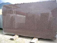 Supply polished slabs 0.8 cm in natural granite DAKOTA MAHOGANY EDM25114. Detail image pictures