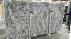 Supply polished slabs 0.8 cm in natural marble DIAMOND GREY 1491M. Detail image pictures