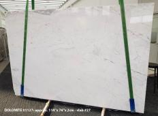 Supply polished slabs 0.8 cm in natural Dolomite DOLOMITE ORION WHITE 1127. Detail image pictures