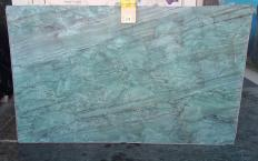 Supply polished slabs 2 cm in natural quartzite EMERALD GREEN Z0209. Detail image pictures