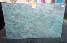 Supply polished slabs 0.8 cm in natural quartzite EMERALD GREEN Z0209. Detail image pictures