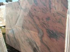 Supply polished slabs 0.8 cm in natural marble ETOWAA PINK EM_0224. Detail image pictures
