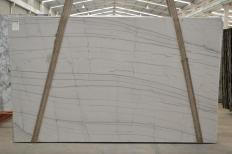 Supply polished slabs 1.2 cm in natural quartzite EXOTIC WHITE 2478. Detail image pictures