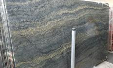 Supply polished slabs 0.8 cm in natural granite EXPLOSION BLUE A0421. Detail image pictures
