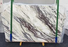 Supply polished slabs 0.8 cm in natural marble FANTASTICO ARNI 1211. Detail image pictures